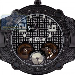 Aqua Master Automatic 0.20 ct Diamond Mens Black Watch