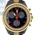 Aqua Master Black Ceramic 3.00 ct Diamond Womens Gold Tone Watch