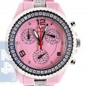 Aqua Master Pink Ceramic 3.00 ct Diamond Womens Mini Watch