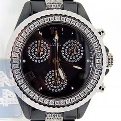 Aqua Master Black Ceramic 3.00 ct Diamond Womens Mini Watch