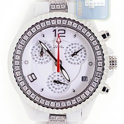 Aqua Master White Ceramic 3.00 ct Diamond Womens Mini Watch