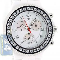 Aqua Master White Ceramic 2.85 ct Diamond Mens Watch