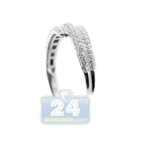 18K White Gold 0.39 ct Diamond Womens Band Ring