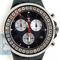 Aqua Master Black Ceramic 2.85 ct Diamond Mens Watch