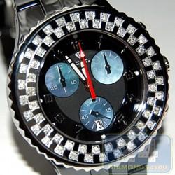 Aqua Master Black Ceramic 1.25 ct Diamond Womens Watch