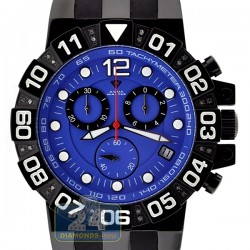Aqua Master Sport 0.24 ct Diamond Mens Blue Dial Watch