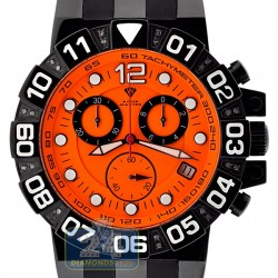 Aqua Master Sport Chrono 0.24 ct Diamond Mens Orange Watch