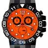 Aqua Master Sport Chrono 0.24 ct Diamond Mens Orange Watch
