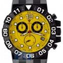 Aqua Master Black PVD Sport Chrono 0.24 ct Diamond Mens Yellow Watch