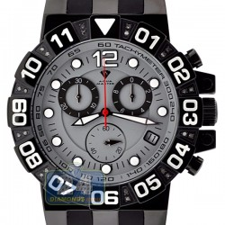 Aqua Master Sport Chrono 0.24 ct Diamond Mens Gray Watch