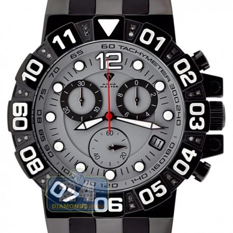 Aqua Master Sport Chrono 0.24 ct Diamond Mens Gray Watch