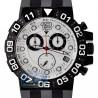 Aqua Master Black PVD Sport Chrono 0.24 ct Diamond Mens White Dial Watch