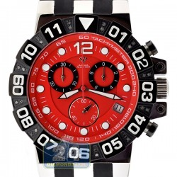 Aqua Master Sport Chrono 0.24 ct Diamond Mens Red Watch