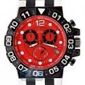 Aqua Master Sport Chrono 0.24 ct Diamond Mens Red Watch