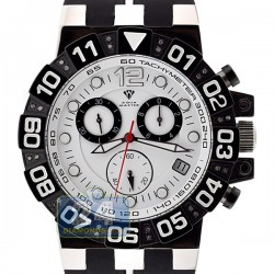 Aqua Master Sport Chrono 0.24 ct Diamond Mens White Watch