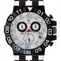 Aqua Master Sport Chrono 0.24 ct Diamond Mens White Watch