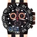 Aqua Master Sport 0.24 ct Diamond Mens Rose Gold Black Dial Watch