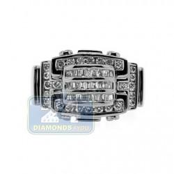 Black PVD 14K Gold 0.76 ct Diamond Mens Signet Ring