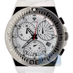 Aqua Master Spider White Dial Rubber Mens Steel Watch