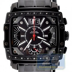Aqua Master Big Date 0.10 ct Diamond Mens Black Watch
