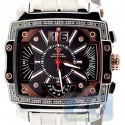 Aqua Master Big Date 0.10 ct Diamond Mens Black Dial Watch
