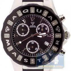 Aqua Master Jelly 0.24 ct Diamond Womens Black Rubber Watch