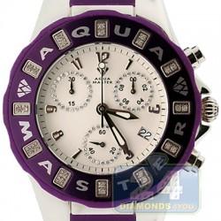 Aqua Master Jelly 0.24 ct Diamond Womens Purple Rubber Watch