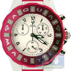 Aqua Master Jelly 0.24 ct Diamond Red Rubber Womens Watch