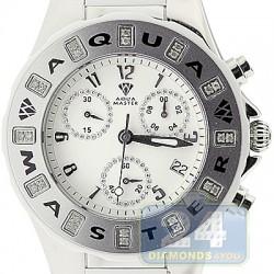 Aqua Master Jelly 0.24 ct Diamond Womens White Rubber Watch