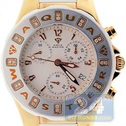 Aqua Master Jelly 0.24 ct Diamond Womens Yellow White Rubber Watch