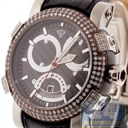 Aqua Master Titanic Automatic 3.50 ct Diamond Mens Steel Watch