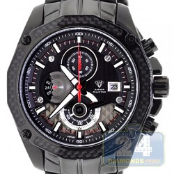 Aqua Master Carbon Chronograph Mens Black PVD Watch