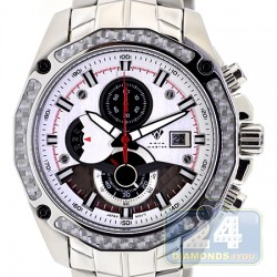 Aqua Master Carbon Chronograph Silver Dial Mens Watch