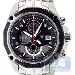 Aqua Master Carbon Chronograph Black Dial Mens Watch