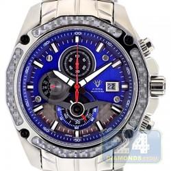 Aqua Master Carbon Chronograph Blue Dial Mens Watch