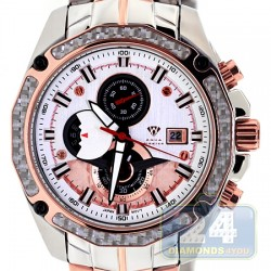 Aqua Master Carbon Chronograph Mens Rose Tone Watch