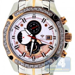 Aqua Master Carbon Chronograph Mens Gold Steel Watch
