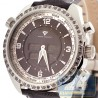 Aqua Master Digital 1.50 ct Black Diamond Mens Steel Watch