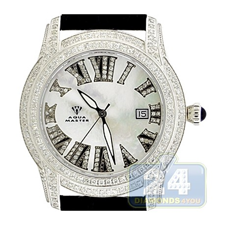 Aqua Master Slim 3.90 ct Iced Out Diamond Mens Watch