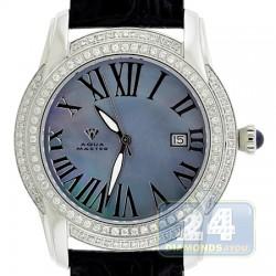 Aqua Master Slim 1.85 ct Diamond Mens Steel Watch
