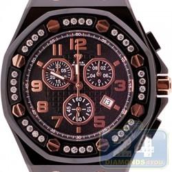 Aqua Master Royal 1.50 ct Diamond Mens Black Watch