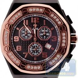 Aqua Master Royal 1.50 ct Diamond Rose Bezel Mens Watch