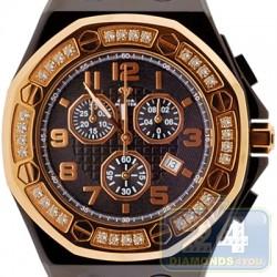 Aqua Master Royal 1.50 ct Diamond Yellow Bezel Mens Watch