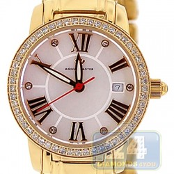 Aqua Master Classic Round 0.65 ct Diamond Womens Yellow Watch