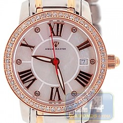 Aqua Master Classic Round 0.65 ct Diamond Womens Two Tone Watch