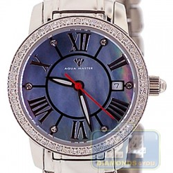 Aqua Master Classic Round 0.65 ct Diamond Womens Steel Watch