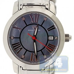 Aqua Master Classic Round Mother-of-Pearl Dial Steel Womens Watch