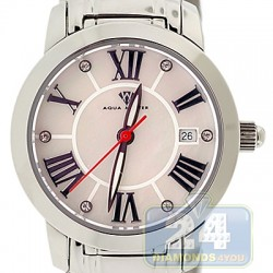 Aqua Master Classic Round White Dial Steel Womens Watch