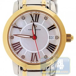Aqua Master Classic Round White Dial Two Tone Womens Watch