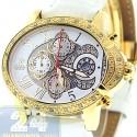 Aqua Master Oval 0.60 ct Diamond Womens Yellow Watch